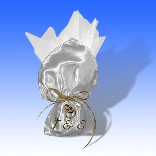 Πουγκί Μπομπονιέρας Λευκό 35x35