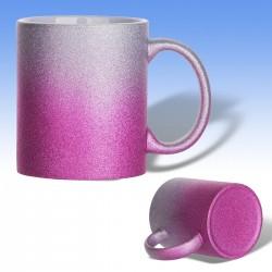 Κούπα glitter δίχρωμη