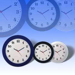 Ρολόι τοίχου σε τρία χρώματα
