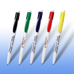 Στυλό με χρωματιστό κλιπ και έγχρωμη εκτύπωση