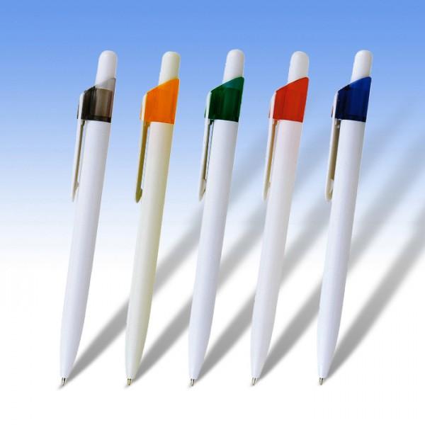Στυλό λευκό και έγχρωμη εκτύπωση