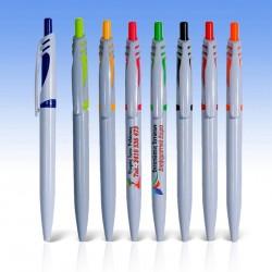 Στυλό Πλαστικό με χρωματιστό κλιπ