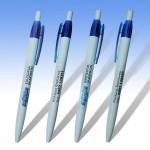 Στυλό με ΛΕΥΚΟ κορμό και έγχρωμη εκτύπωση