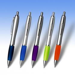 Στυλό Cardiff ασημί και έγχρωμη εκτύπωση