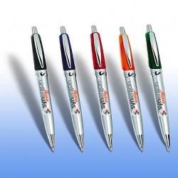 Στυλό δίχρωμο Ασημί και έγχρωμη εκτύπωση