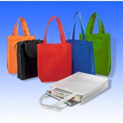 Οικολογική τσάντα με πιέτα και μακρύ χερούλι